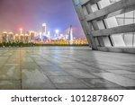 empty marble floor and modern... | Shutterstock . vector #1012878607