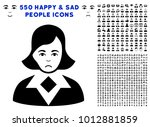 pitiful woman pictograph with... | Shutterstock .eps vector #1012881859
