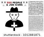 unhappy catholic priest icon...   Shutterstock .eps vector #1012881871