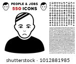 pitiful patient pictograph with ... | Shutterstock .eps vector #1012881985