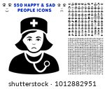 sadly physician lady pictograph ... | Shutterstock .eps vector #1012882951