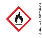 vector fire warning sign red... | Shutterstock .eps vector #1012887634