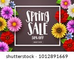 spring sale text in a... | Shutterstock .eps vector #1012891669