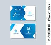 modern business card template... | Shutterstock .eps vector #1012894081