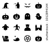 origami style icon set   witch... | Shutterstock .eps vector #1012894144