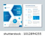 annual report  broshure  flyer  ... | Shutterstock .eps vector #1012894255