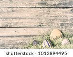 holiday vintage wooden... | Shutterstock . vector #1012894495