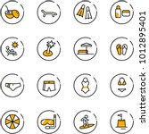 line vector icon set   coconut... | Shutterstock .eps vector #1012895401
