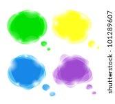 set of bright vector speech... | Shutterstock .eps vector #101289607