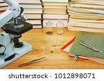 microscope and test specimens...   Shutterstock . vector #1012898071
