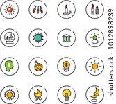 line vector icon set   sun... | Shutterstock .eps vector #1012898239