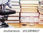 microscope and test specimens...   Shutterstock . vector #1012898827