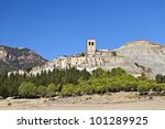 Esco Abandoned Hill Town in Spain - stock photo