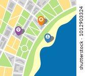 city map of an imaginary city... | Shutterstock .eps vector #1012903324