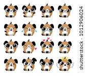 funny puppy dog social media...   Shutterstock .eps vector #1012906024