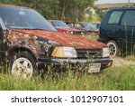old car  waiting for a break in ... | Shutterstock . vector #1012907101