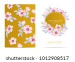 wedding invitation with wild... | Shutterstock .eps vector #1012908517