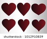 red heart vector icon... | Shutterstock .eps vector #1012910839
