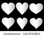 silver heart vector icon... | Shutterstock .eps vector #1012910851