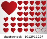 red heart vector icon... | Shutterstock .eps vector #1012911229
