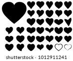 black red heart vector icon... | Shutterstock .eps vector #1012911241