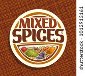 vector logo for spices | Shutterstock .eps vector #1012913161