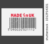 vector realistic barcode  made... | Shutterstock .eps vector #1012914331
