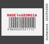 vector realistic barcode  made... | Shutterstock .eps vector #1012914334