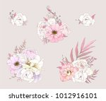 collection of floral... | Shutterstock .eps vector #1012916101