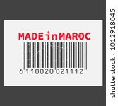 vector realistic barcode  made... | Shutterstock .eps vector #1012918045