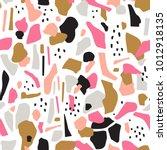 terrazzo seamless pattern.... | Shutterstock .eps vector #1012918135