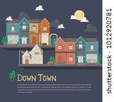 illustration of urban building. ...   Shutterstock .eps vector #1012920781