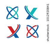letter x and initial x business ...   Shutterstock .eps vector #1012920841