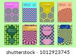 creative covers templates with... | Shutterstock .eps vector #1012923745