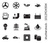 solid black vector icon set  ... | Shutterstock .eps vector #1012924504