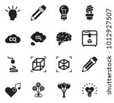 solid black vector icon set  ... | Shutterstock .eps vector #1012927507