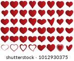 red heart vector icon... | Shutterstock .eps vector #1012930375