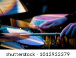 cymbal and drumsticks | Shutterstock . vector #1012932379