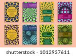 colorful covers templates with... | Shutterstock .eps vector #1012937611
