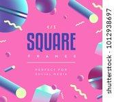 80's style social media square... | Shutterstock .eps vector #1012938697