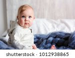 portrait of cute 8 month old... | Shutterstock . vector #1012938865