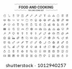 food and cooking. minimalism... | Shutterstock .eps vector #1012940257