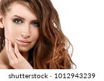 young woman with beauty skin... | Shutterstock . vector #1012943239