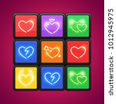 cube with love puzzle for your... | Shutterstock .eps vector #1012945975