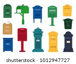 mail box vector post mailbox or ... | Shutterstock .eps vector #1012947727