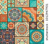 seamless colorful patchwork... | Shutterstock .eps vector #1012947931