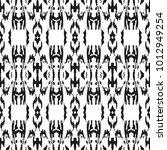 black and white seamless ethnic ... | Shutterstock .eps vector #1012949254