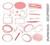 red marker elements ... | Shutterstock .eps vector #1012950037