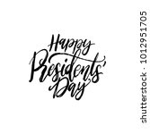 happy presidents' day... | Shutterstock .eps vector #1012951705