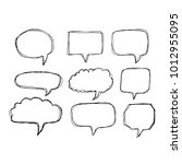 speech bubble icon hand drawn | Shutterstock .eps vector #1012955095
